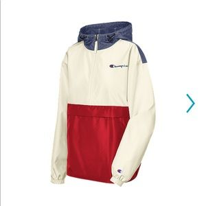 CHAMPION PACKABLE JACKET RED/WHITE/BLUE